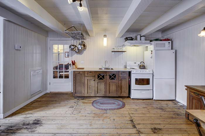 Cozinha grande rústica