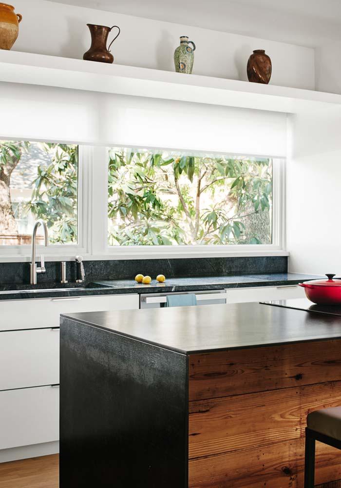 Cozinha rústica com dois estilos