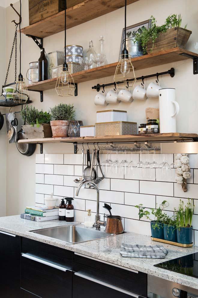 Natureza para dentro da cozinha rústica