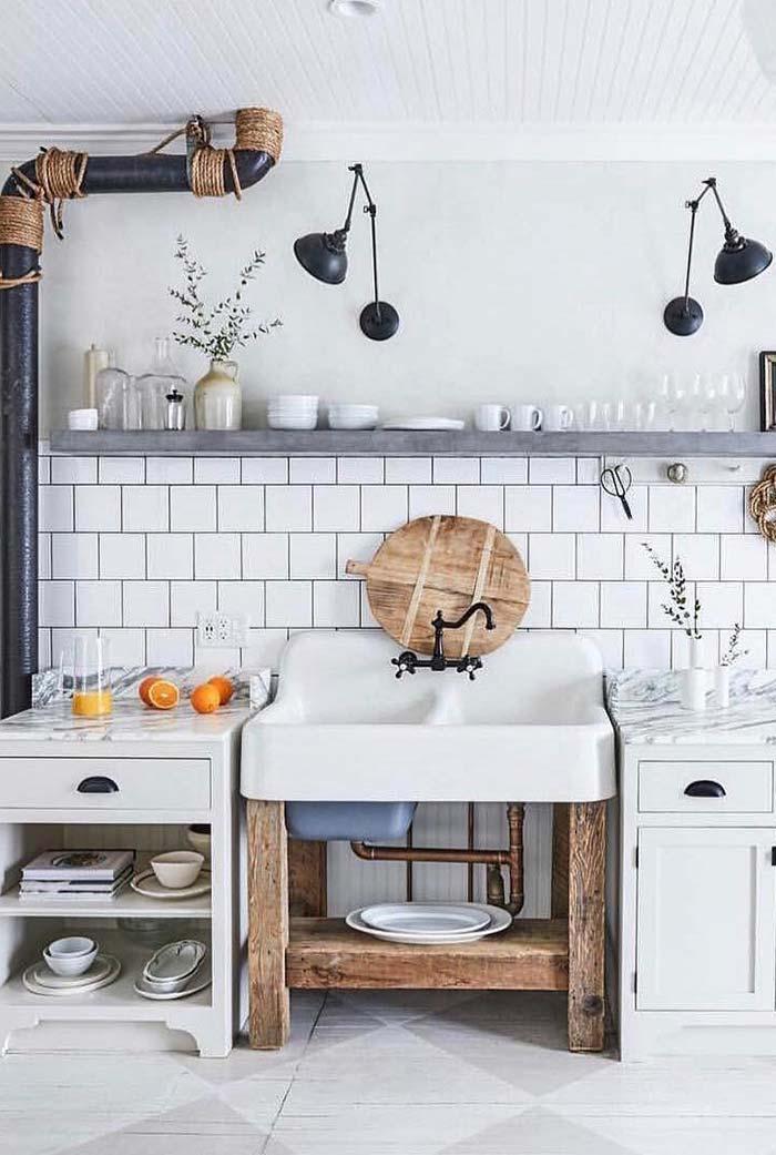 Combinações na cozinha rústica