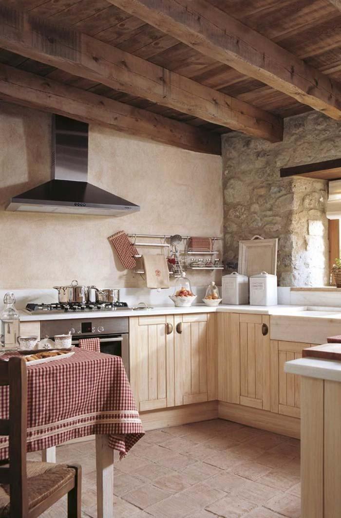 Tons de terra na cozinha