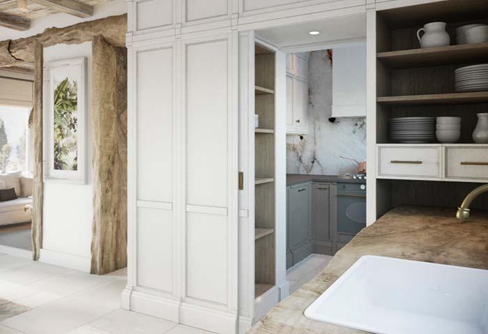 Cozinha rústica combinando com os demais ambientes da casa