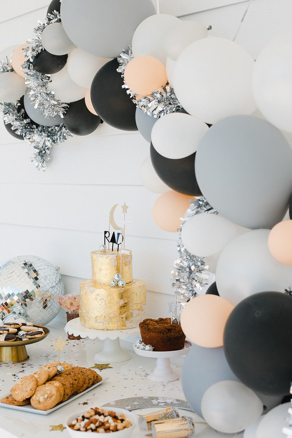 decoração mais clássica com balões