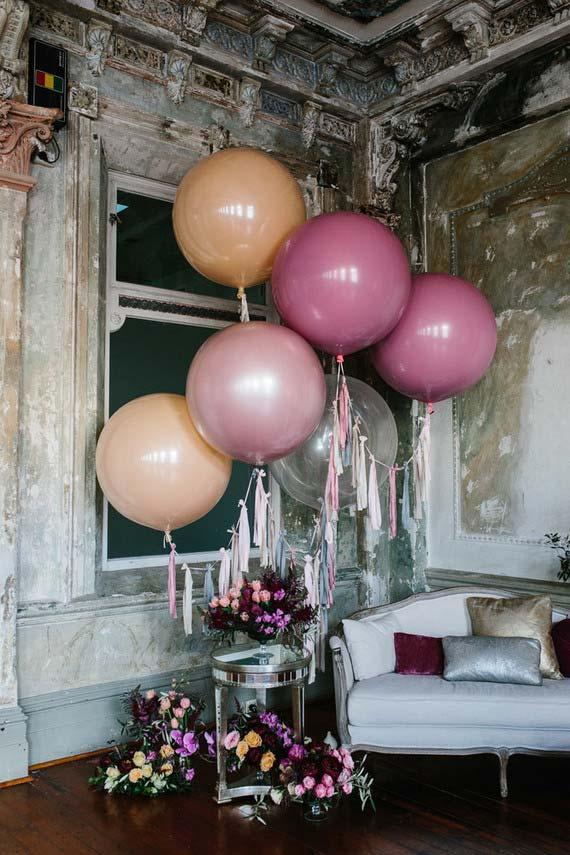 Decoração com balões esféricos