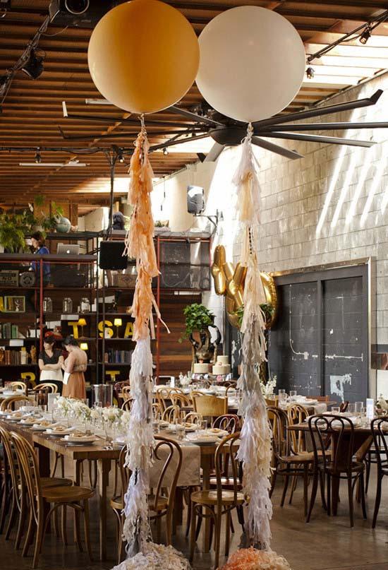 Decoraç u00e3o Com Balões 100 Ideias, Fotos E Passo A Passo Simples -> Decoração De Festa Com Balões No Teto