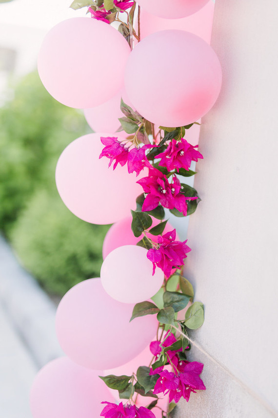Balões cor de rosa