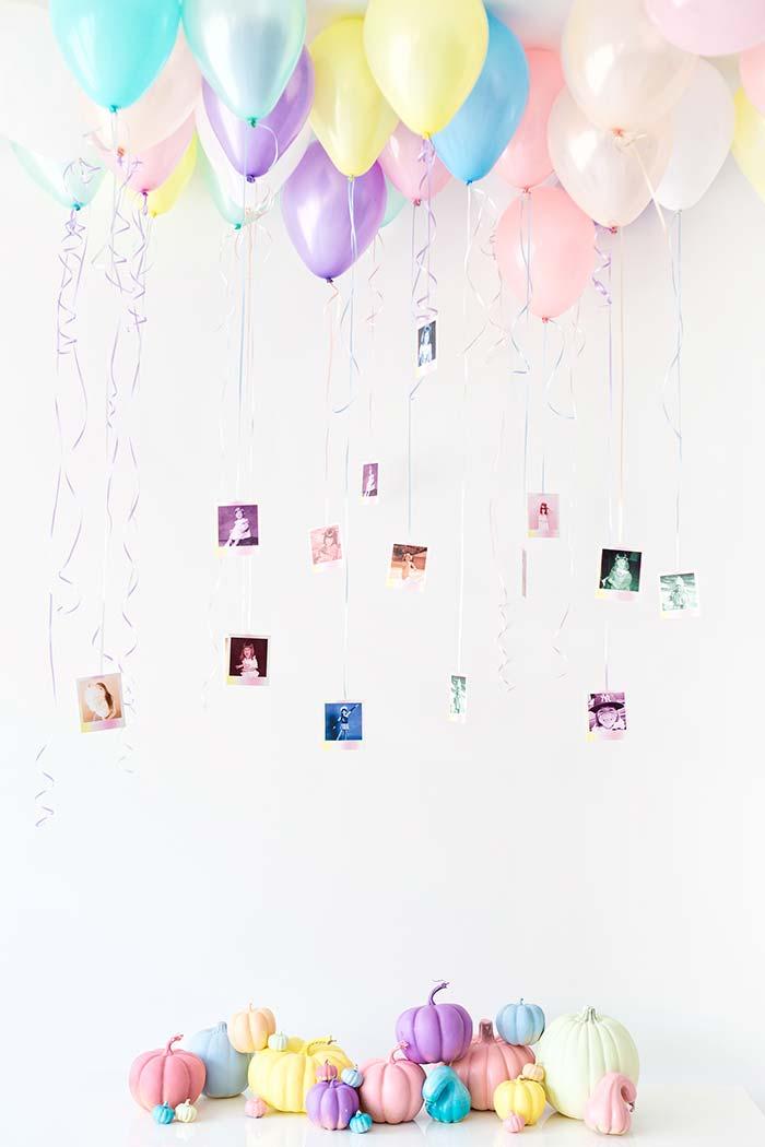 Balões com fotos