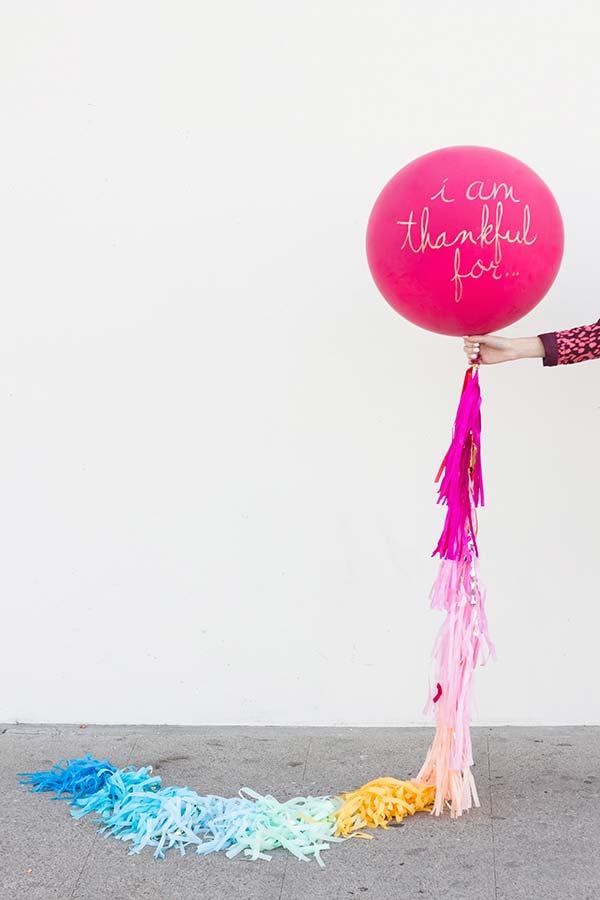 Balão com mensagem