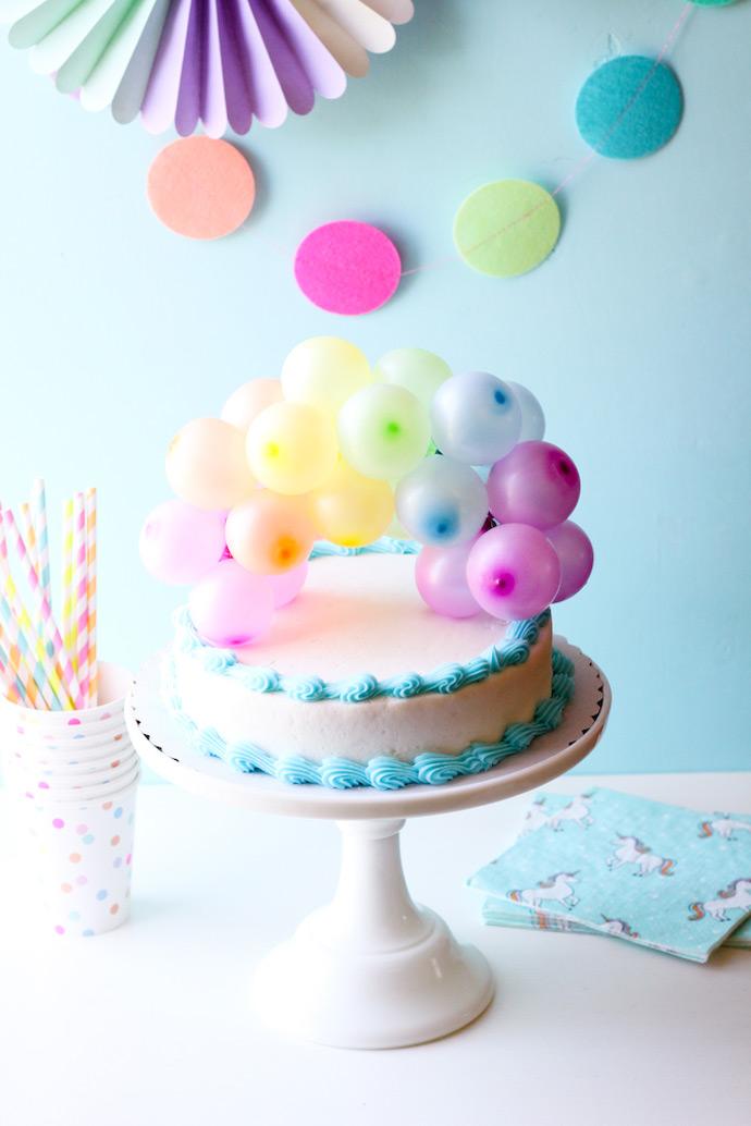 Minis balões para decorar o bolo