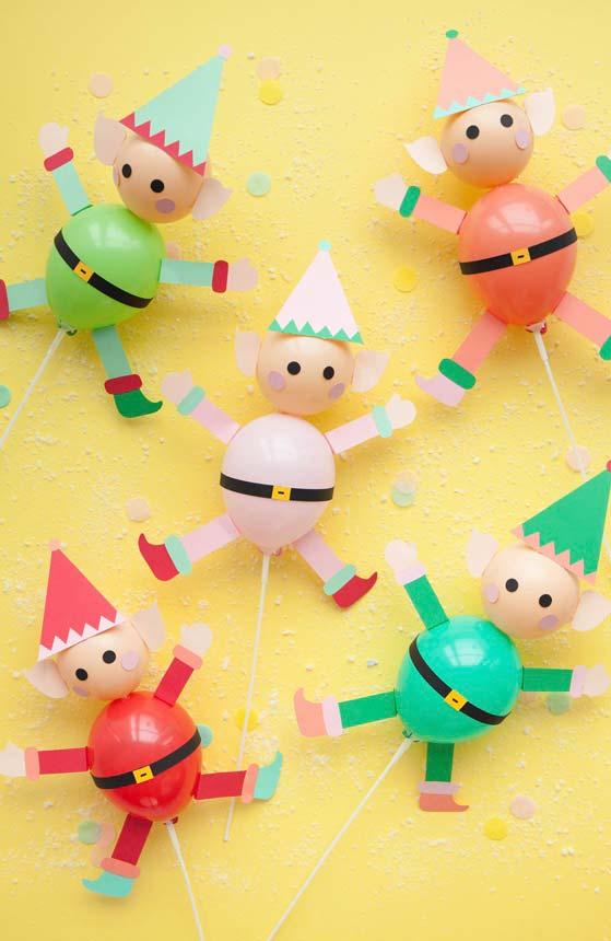 Bexigas para fazer uma decoração natalina