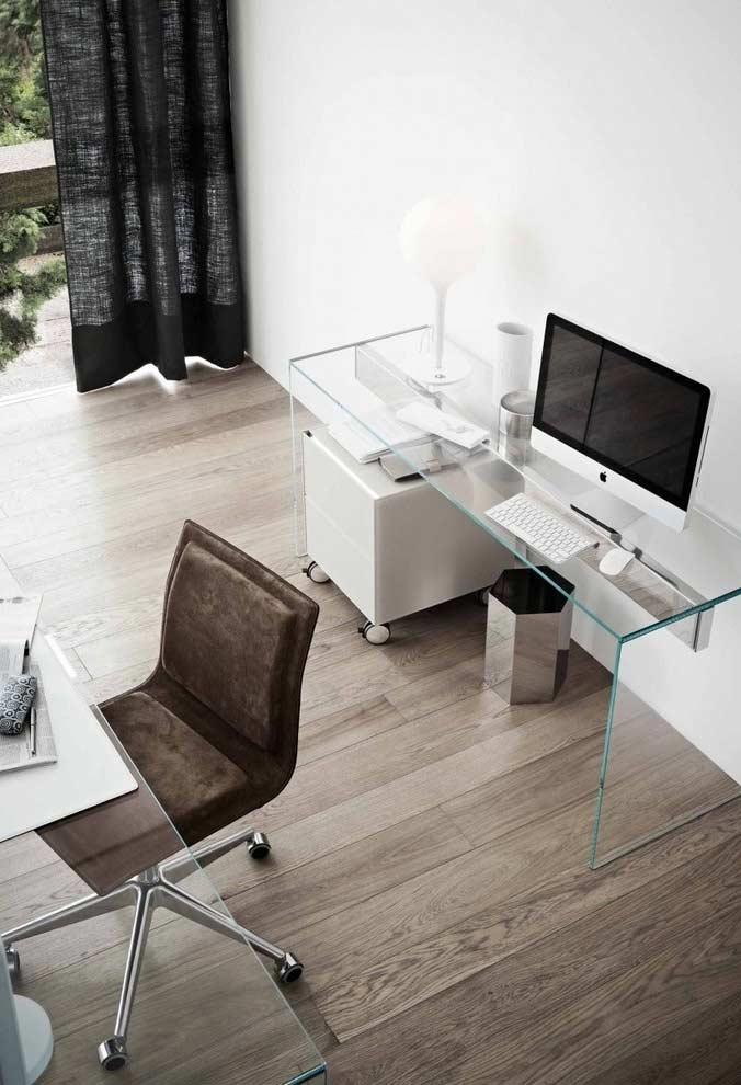 Escrivaninha de vidro com 3 peças