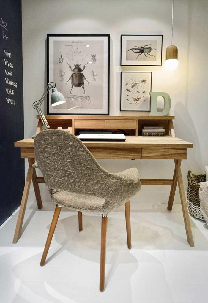 Inspiração nas escrivaninhas antigas com design moderno