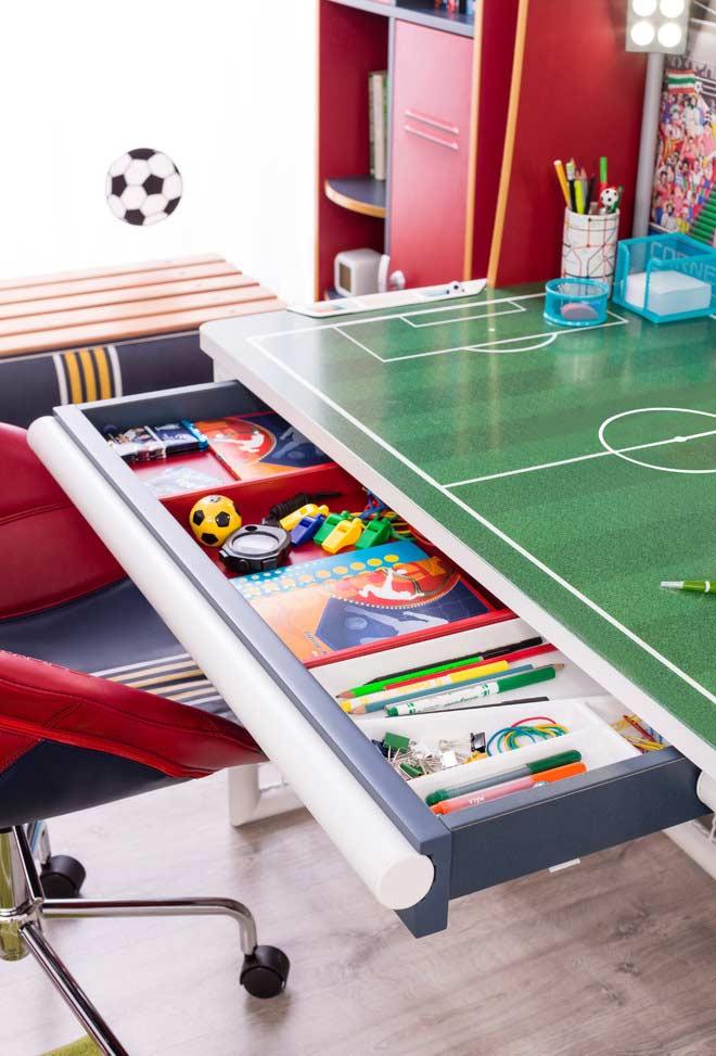 Escrivaninha futebol infantil