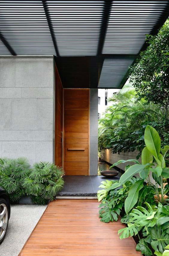 Hall de entrada verde
