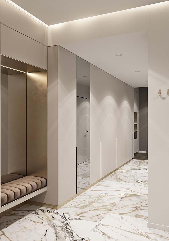 Hall marmorizado