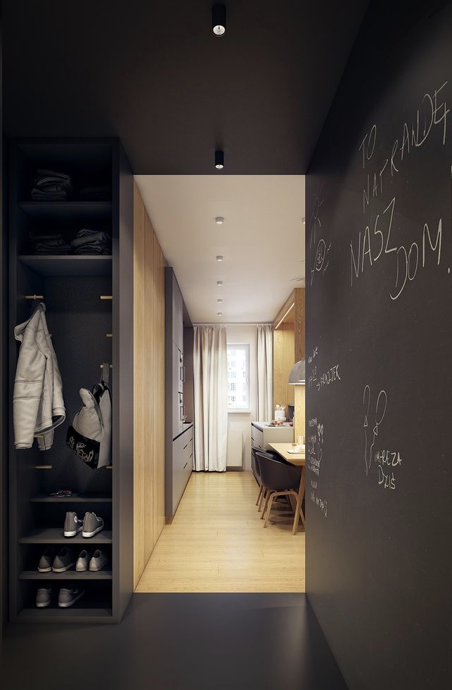 Hall que parece um closet
