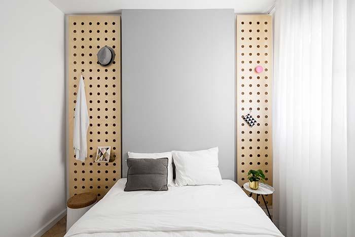 Decoração funcional no quarto de casal pequeno