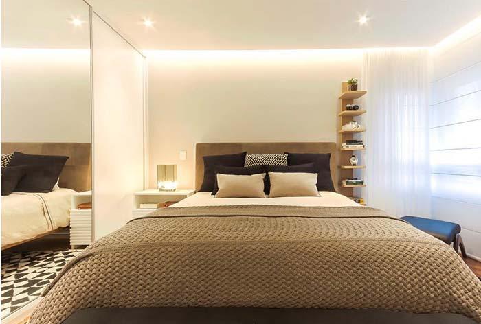 Iluminação indireta para valorizar o quarto