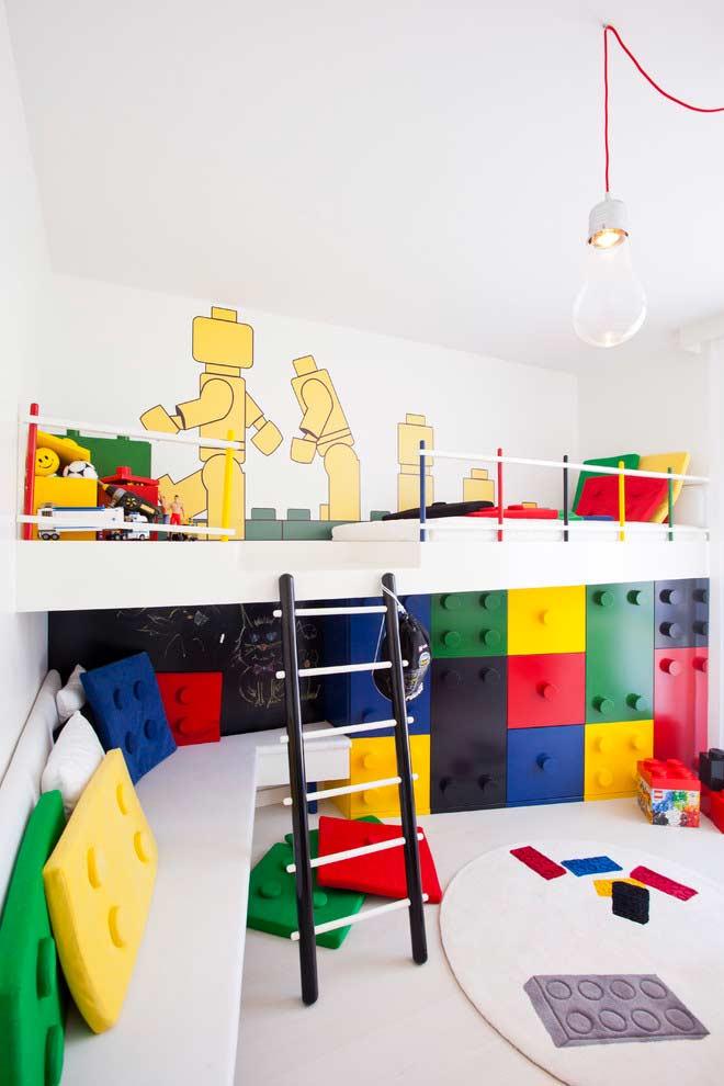 Modelo de sala de jogos do Lego