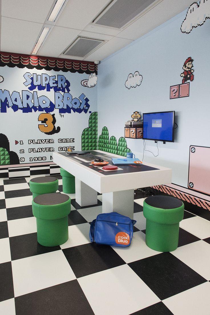 Sala inspirada no clássico Super Mario Bros
