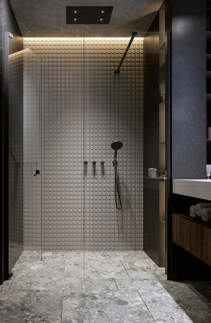 Box de vidro para um banheiro de visual leve e clean