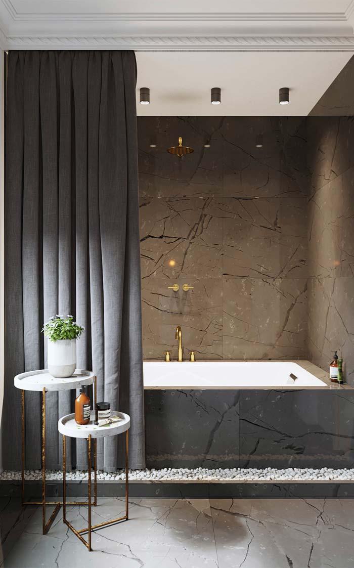 Cortina para proteger o banho de banheira