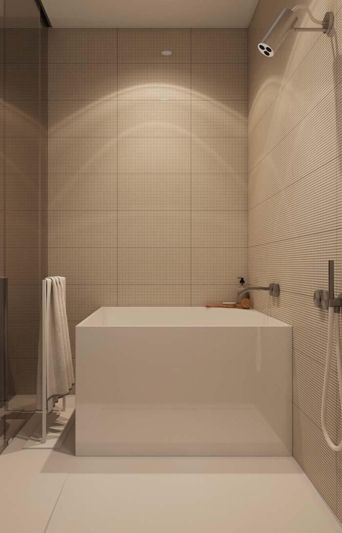 Box de vidro fumê para cobrir área da banheira e chuveiro