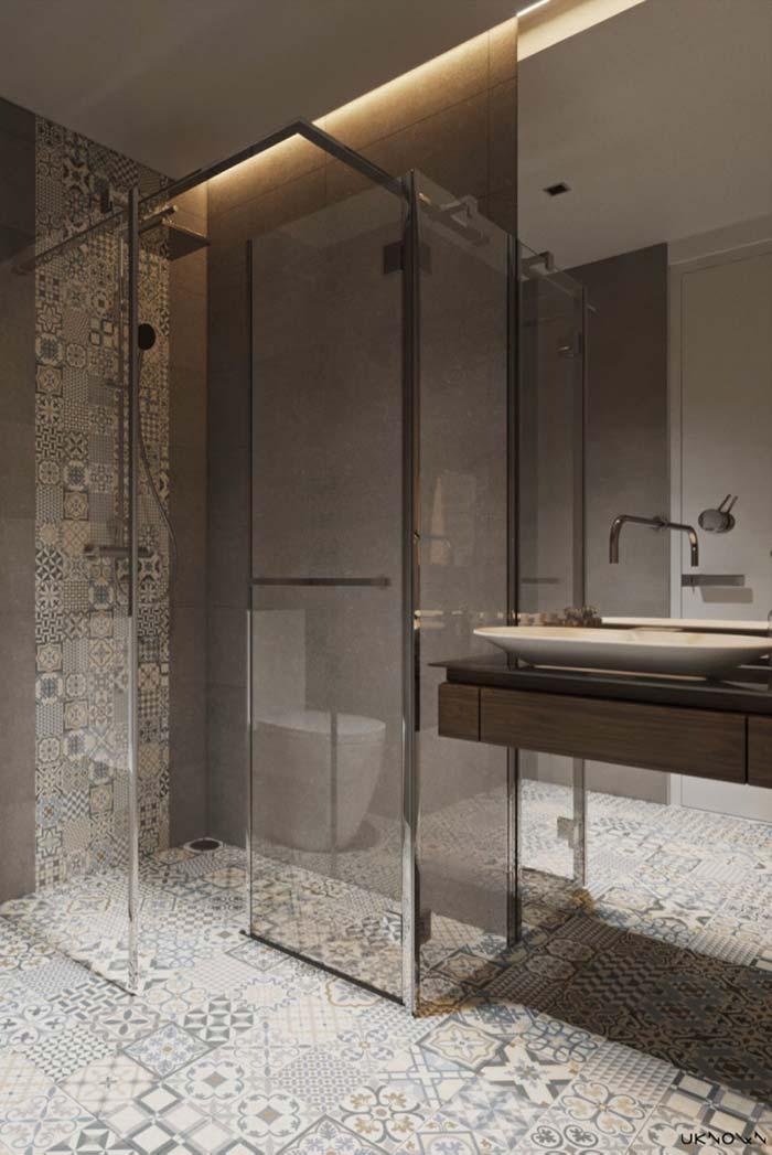 Marrom para trazer sofisticação ao banheiro