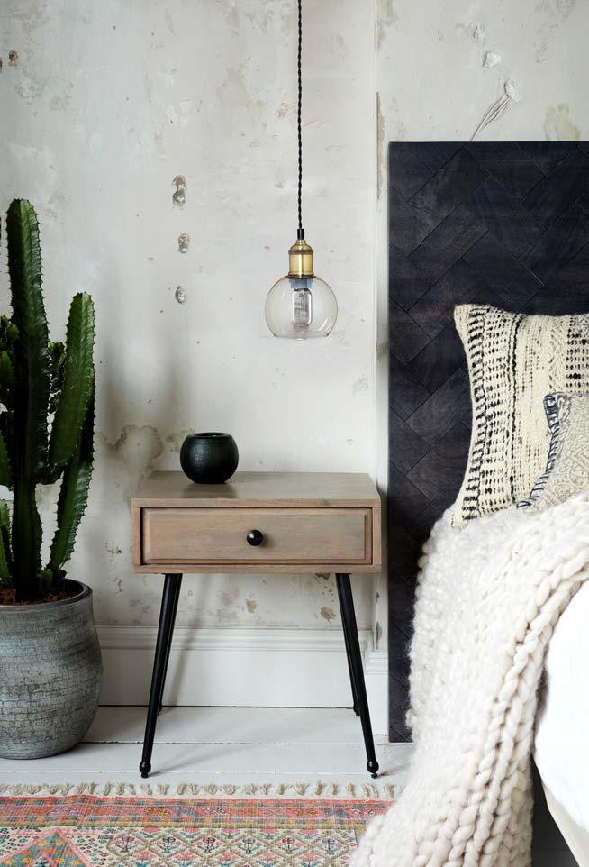 Cactos grandes na decoração de quartos e outros cantinhos vazios