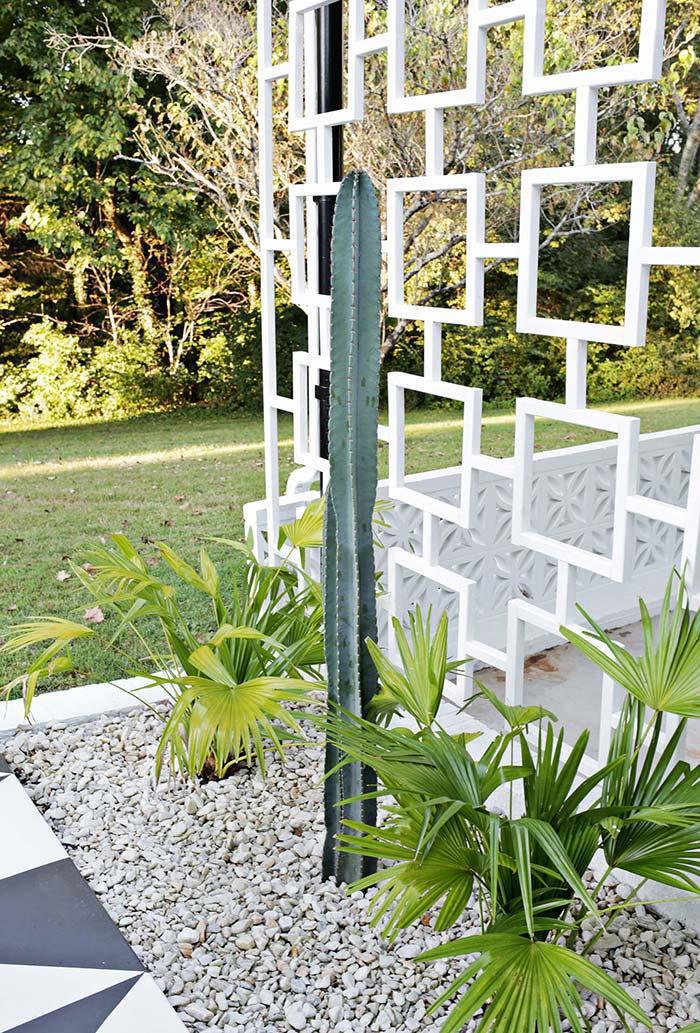 Cactos grandes na decoração do jardim