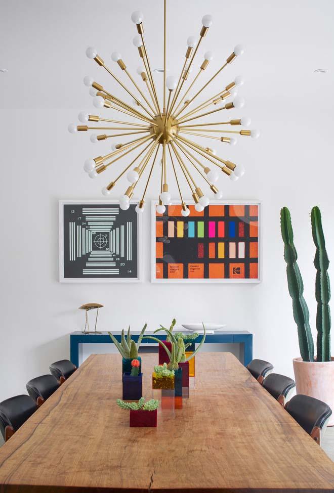 Cachepots retangulares de acrílico colorido