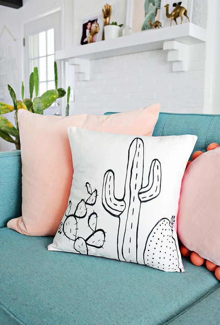 Cactos decorando sua sala in natura