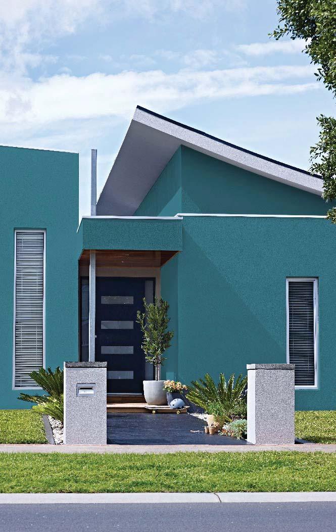 Cores de casas: suavidade marca o tom de azul dessa casa