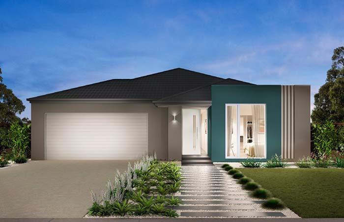 Cores de casas: em meio ao cinza, um tom de azul se destaca