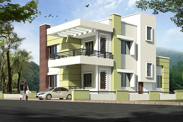Verde pistache, tendência de decoração, nos detalhes da fachada da casa