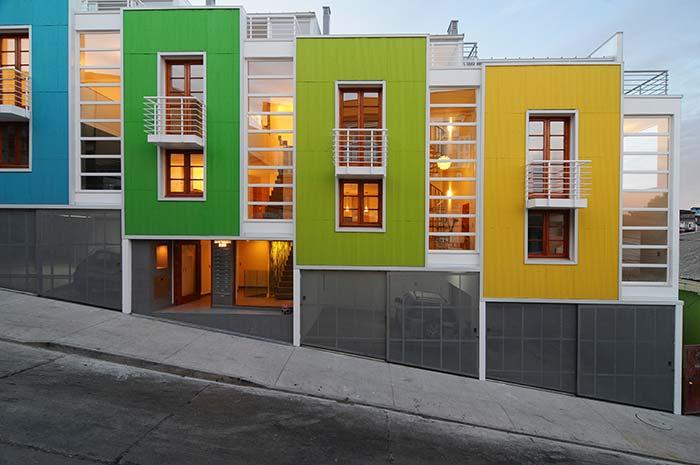Cores de casas vibrantes para construções modernas