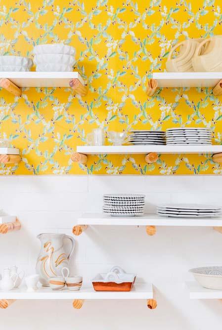 Cozinha amarela super fofa