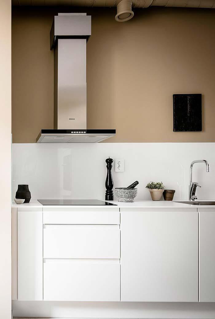 Cozinha bicolor minimalista