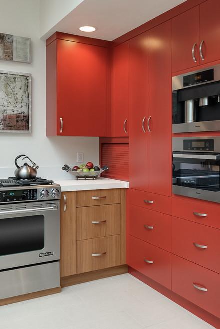 Vermelho tomate na cozinha