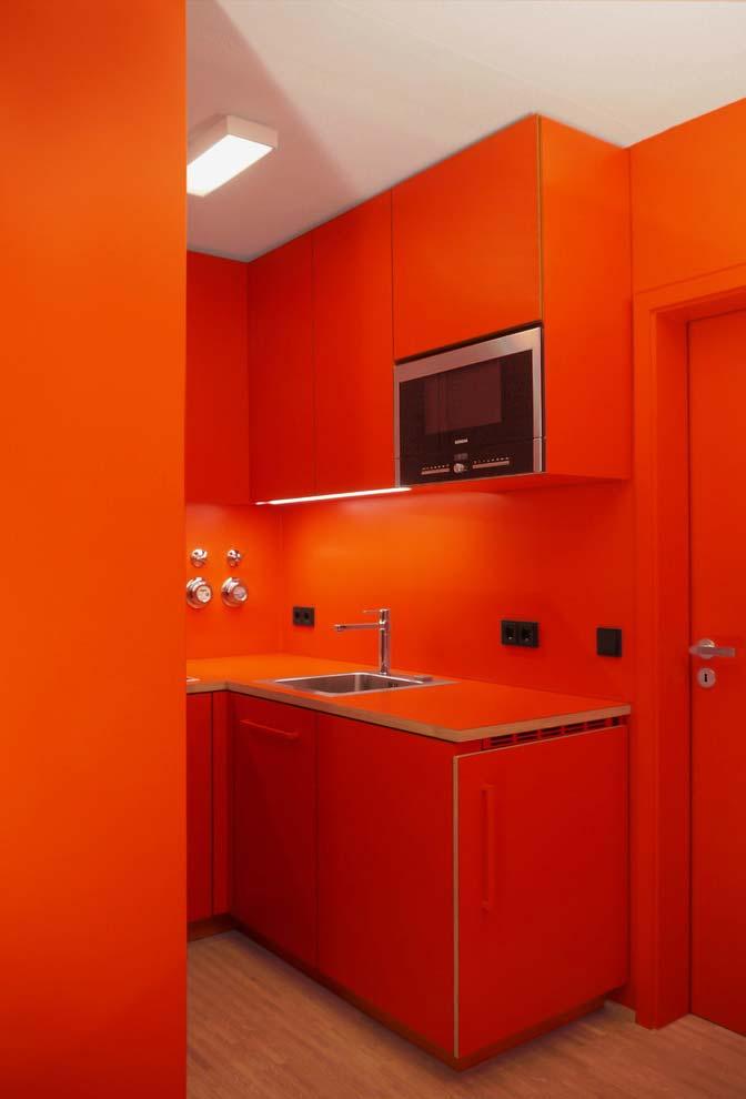 Cozinha em Tangerine Tango