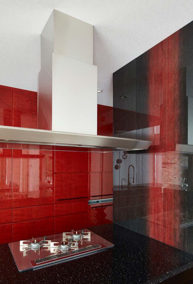 Mistura de cores: preto e vermelho