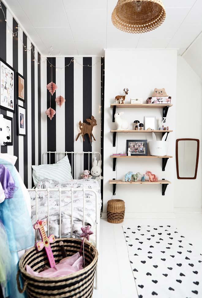Preto e branco para quarto infantil