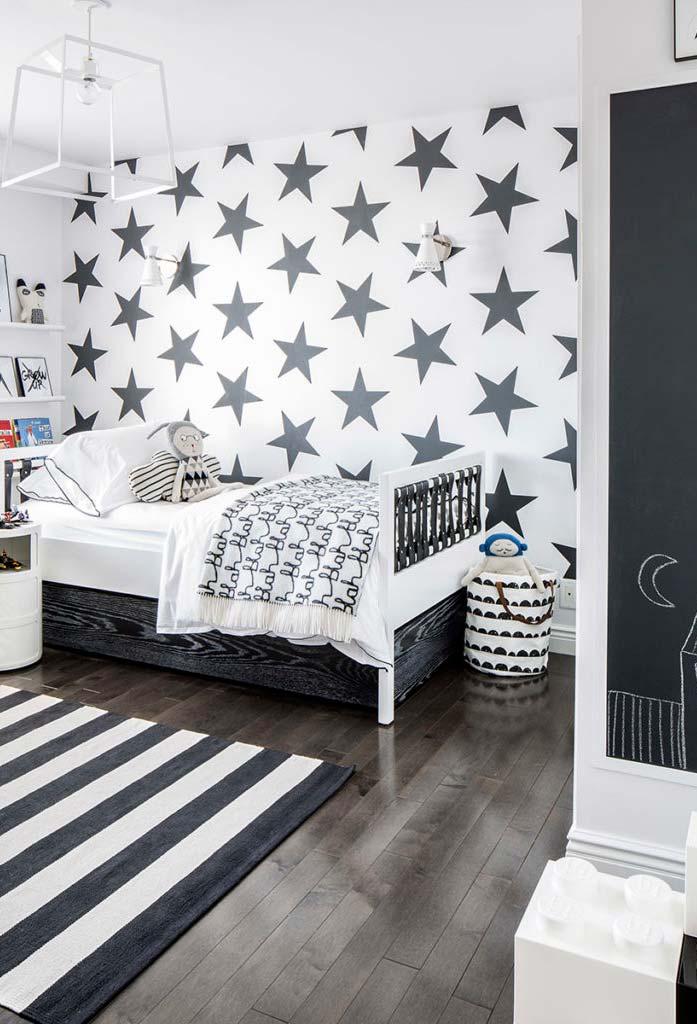 Decoração de quarto infantil preto e branco