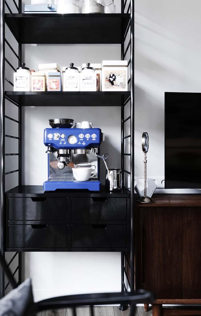 Cantinho do café moderno na sala de estar