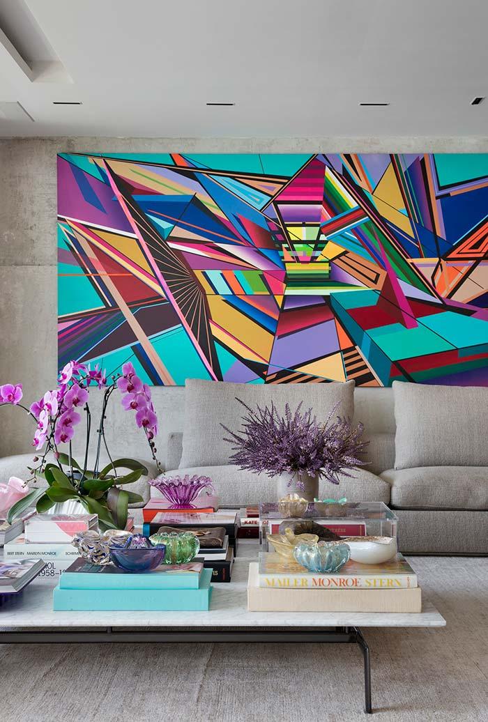 Quadro colorido e vibrante para decorar a sala