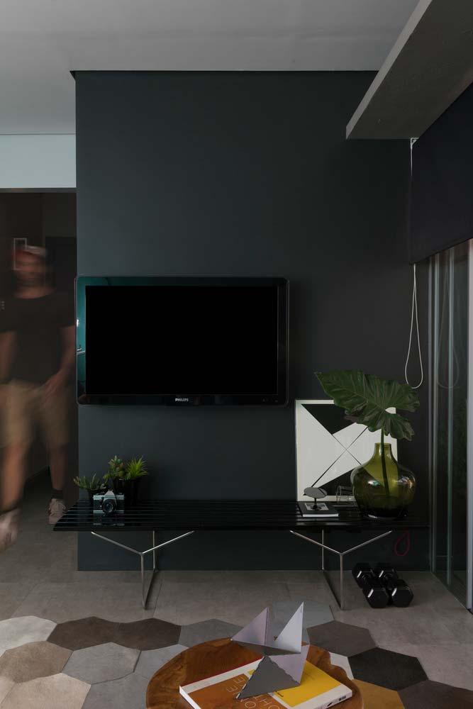 sala de estar moderna com cores fortes