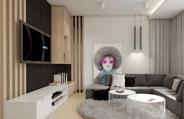 Para sua sala ser confortável e aconchegante, invista em um tapete macio
