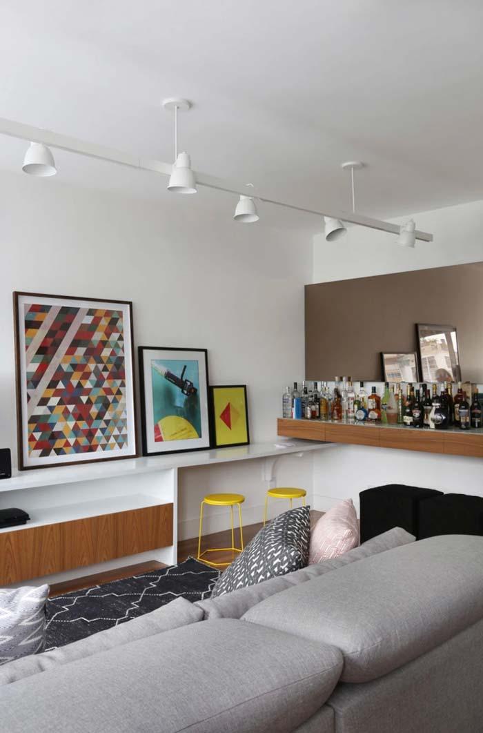Sala de estar com bar