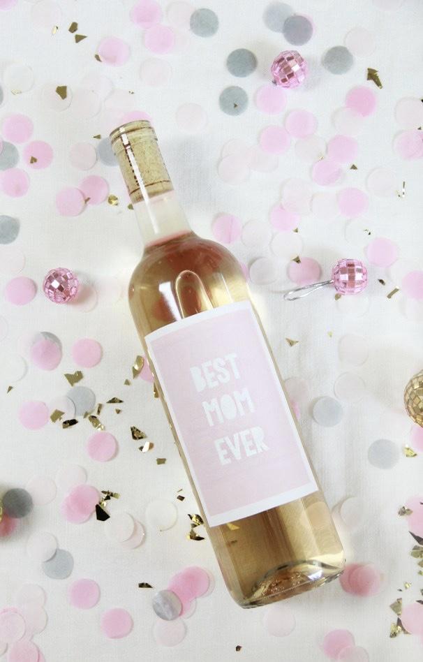 Rótulo de bebida personalizado para o dia das mães