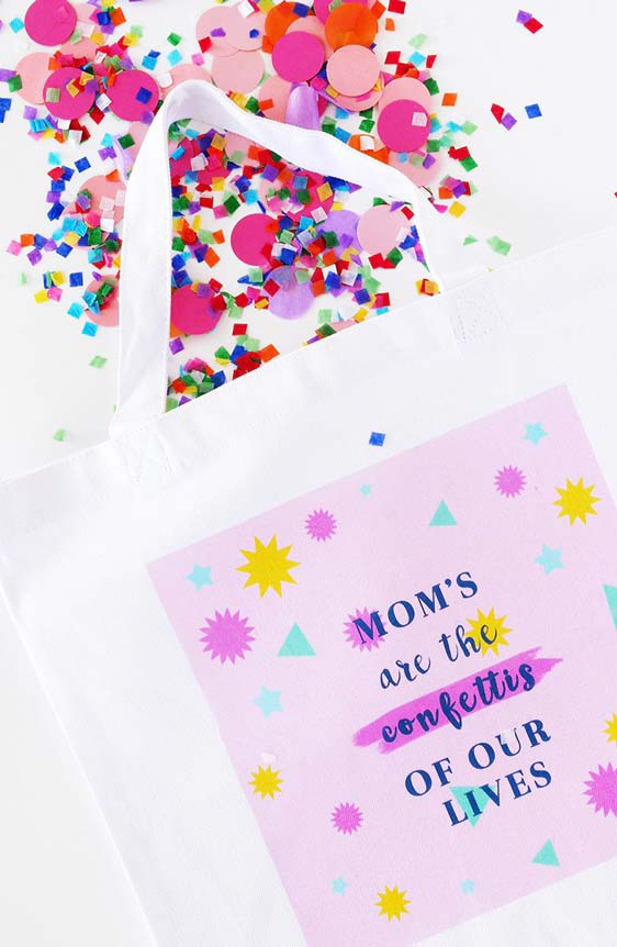 Sacolinha de confetes para alegrar a festa